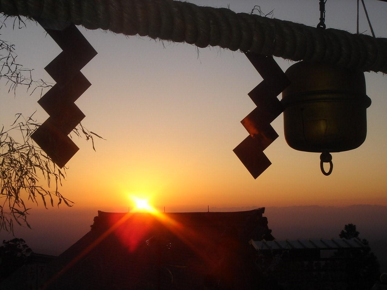 武蔵御岳神社初日の出