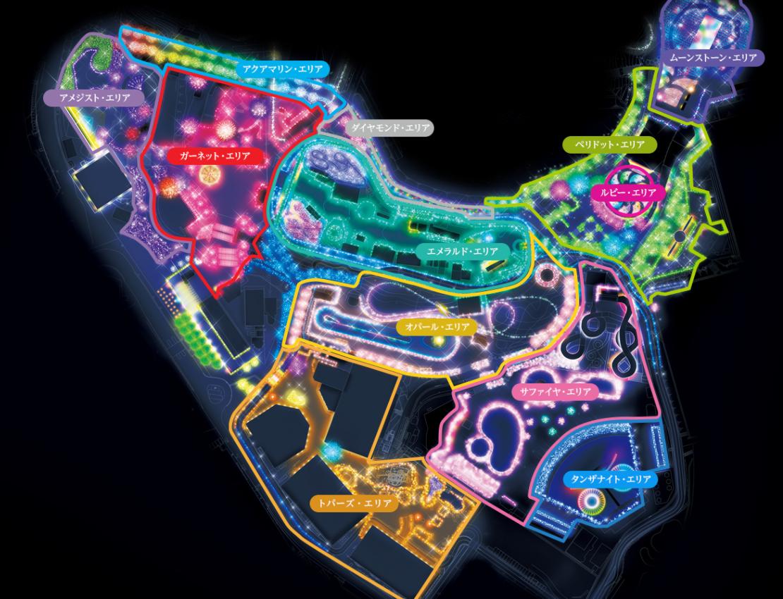 12エリアのマップ