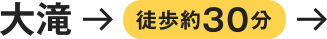 大滝→徒歩約30分