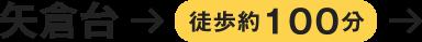 矢倉台→徒歩約100分
